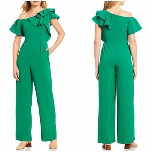 Green ruffle jumpsuit easter spring